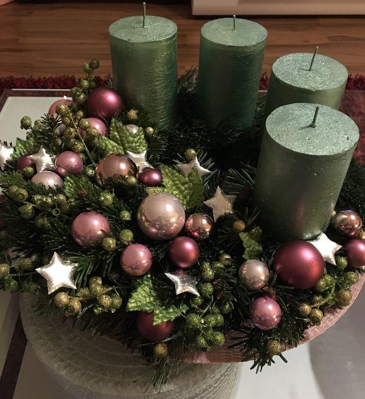 adventskranz esferas 2019 deko weihnachten advent. Black Bedroom Furniture Sets. Home Design Ideas
