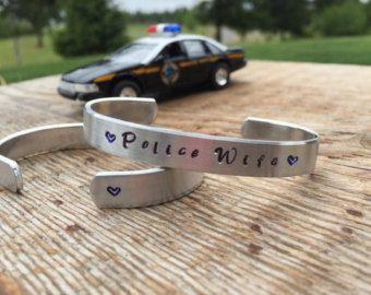 Thin blue line bracelet blue lives matter by RudePoodleDesigns