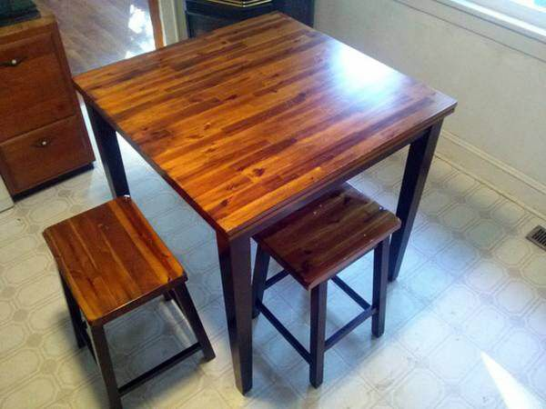 tall kitchen table plans diy pallet instructions island combo