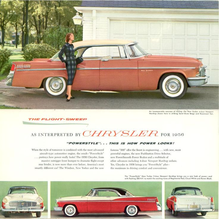 9 best 1956 Chrysler Ads images on Pinterest | Vintage cars, Cars ...