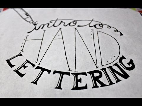 ▶ Intro to Hand Lettering - YouTube
