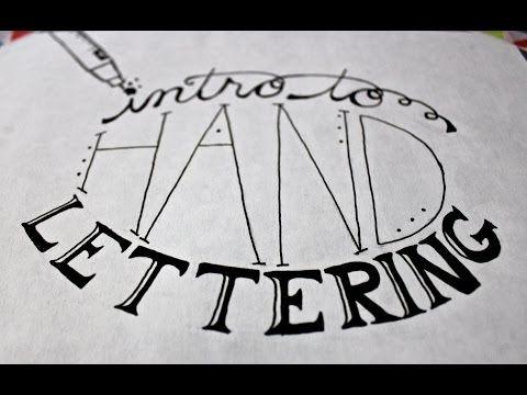 Introducción a la caligrafía (video y explicación escrita)