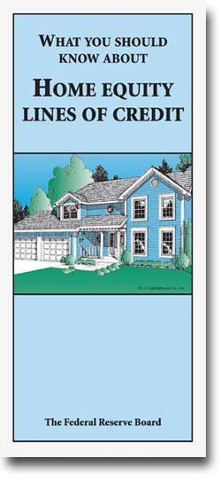 Home Equity Booklet. The HELOC booklet includes information on:  • What is a home equity line of credit? • What should you look for when shopping for a plan? • Costs of establishing and maintaining a home equity line • How will you repay your home equity plan? • Lines of credit vs. traditional second mortgage loans • What if the lender freezes or reduces your line of credit?