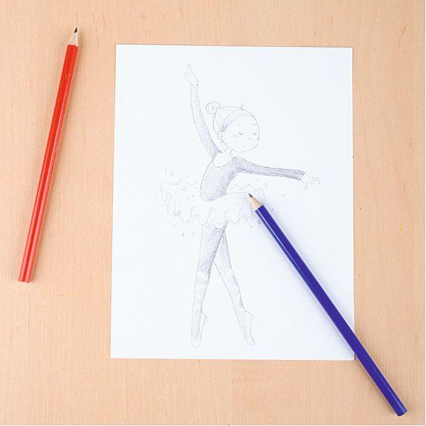 Baletnica #bambino  http://www.mojebambino.pl/wspolpraca-z-rodzicem/53-olowki-trojkatne.html