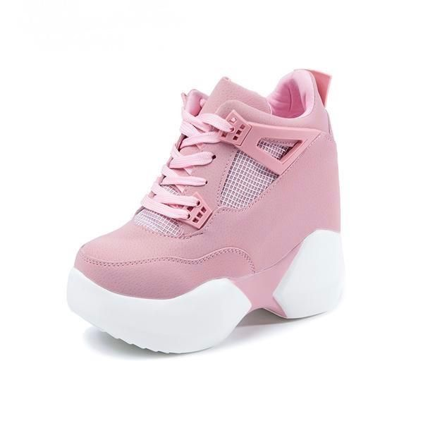 WOMENS LADIES CHUNKY HEEL TRAINERS SPORT PARTY PLATFORM SNEAKERS WOMEN SHOES