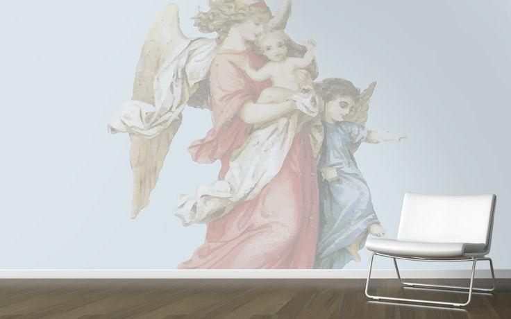 Big Angel Cool vintage wallpaper from Scandiwall.  www.scandiwall.se