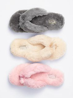 In the snow, who doesn't want these cozy slippers on their feet!