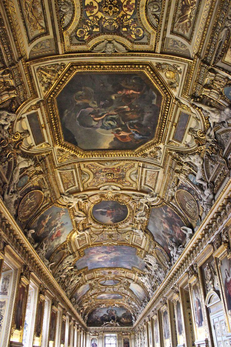 Le Louvre - impressively decorated ceiling - c'est magnifique! Cong Nguyen photography September 2013.