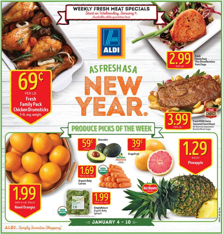 Aldi Weekly Ad January 4 - 10, 2017 - http://www.olcatalog.com/grocery/aldi-ad.html