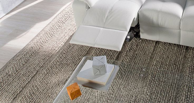 Nick Scali - Russell Rug (200cmWx280cmD) (300cmWx350cmD) - Available in Silver, Grey & Ivory