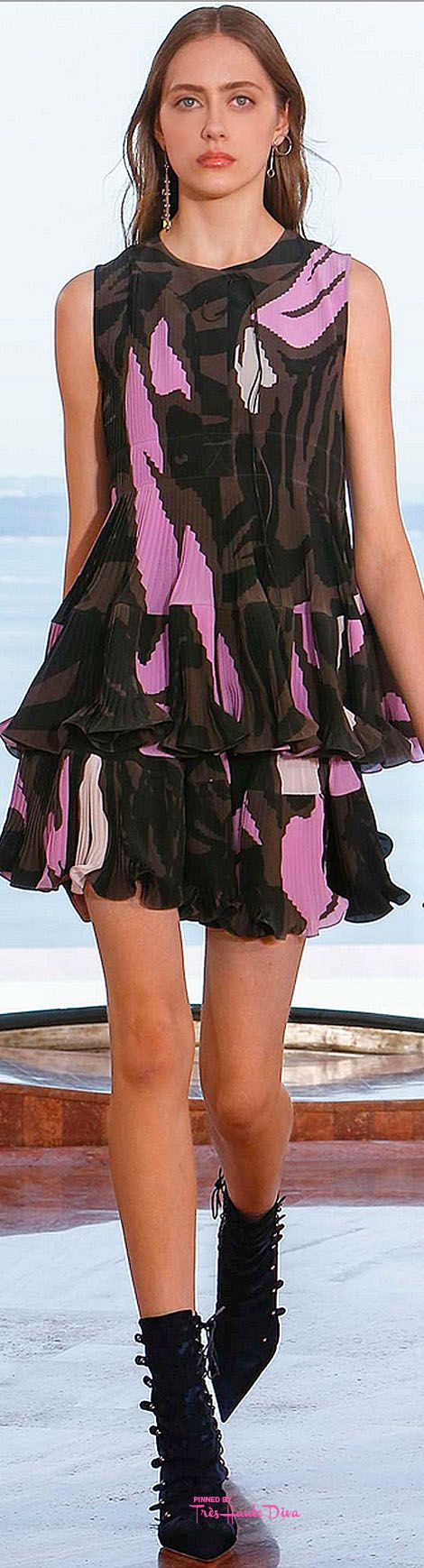 Christian Dior Resort 16: camo & pink dress.