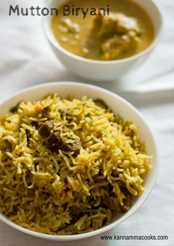 Simple and easy recipe for Mutton Biryani made in the pressure cooker. Tamilnadu style pressure cooker biryani. With step by step pictures.