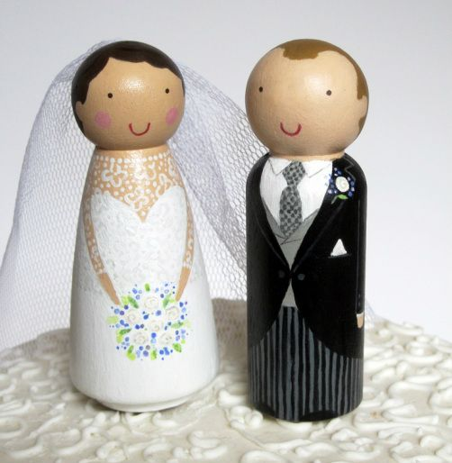 Personalised wedding toppers cake toppers by the dolly bird vintage weddings
