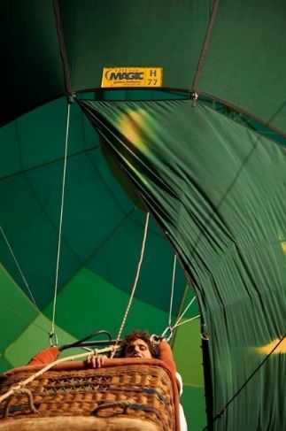 """Mika in a hot air balloon Ibiza 2011 - from the """"Mika Backstage"""" album on Mika's Facebook page"""