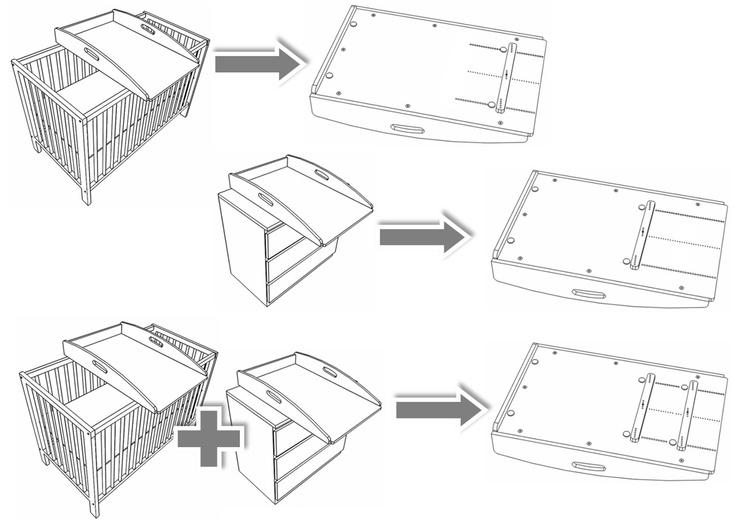 wickelauflage zum einsatz auf 2 m bel gleichzeitig z b. Black Bedroom Furniture Sets. Home Design Ideas
