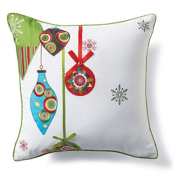 White Jingle Throw Pillow