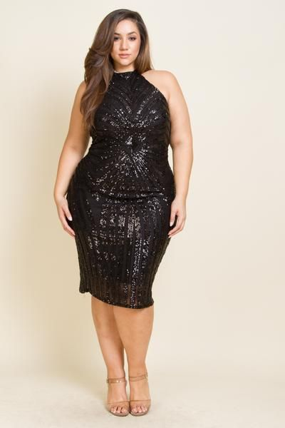 Plus Size Diamond Sequin Dress | infused art | Fashion ...