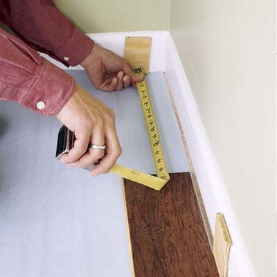 How to install floating engineered hardwood (tongue in groove + glue over foam underlayment)