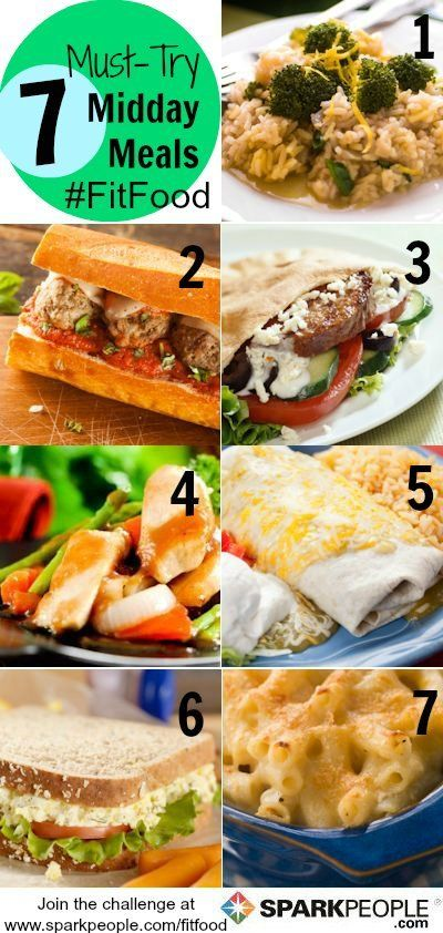 A week's worth of healthy & nutritious lunch ideas | via @SparkPeople #diet #food #recipe #FitFood #meal #plan