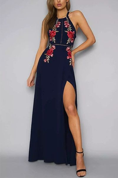 Poppoly Find Summer Tranquillity Maxi Prom Dress