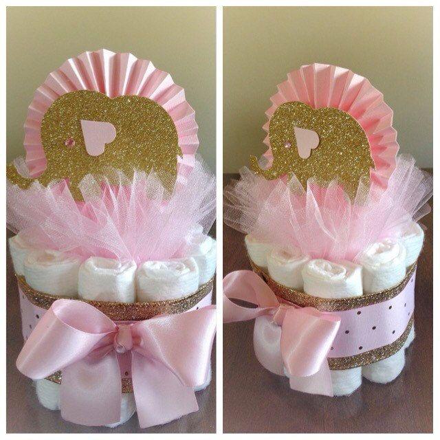 Gold Elephant Centerpiece : Best ideas about elephant diaper cakes on pinterest