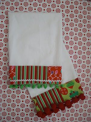 Christmas Dish TowelsSewing, Towels Tutorials, Obsession Stitches, Stitching, Dish Towels, Dishes Towels, Decorate Flour Sack Towels, Merry Christmas, Christmas Dishes