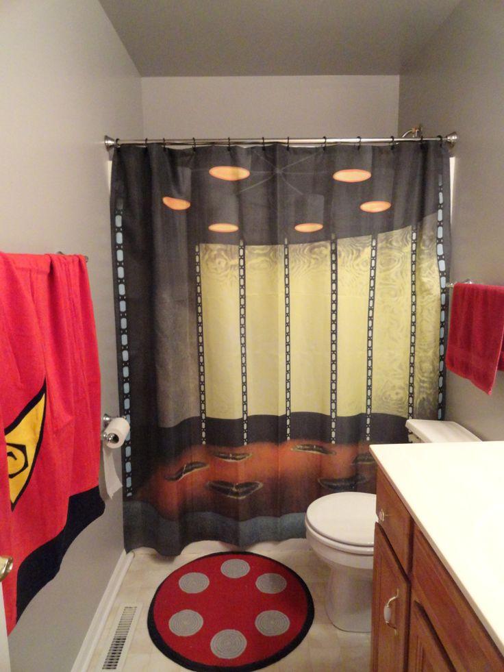 Star Trek Bathroom-curtain from Think Geek.