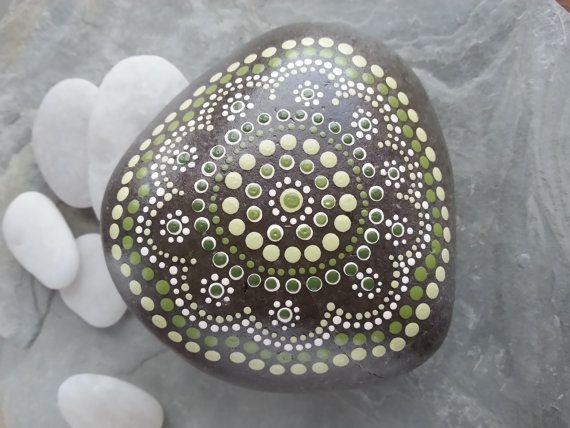 Beach Stone Art/Painted Rocks/Painted Stones/Beach Stones/Beach Rocks/Dot Painted/Beach Decor/Inspriational via Etsy