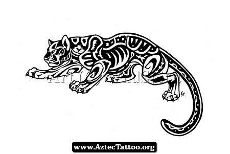 Jaguar Aztec Tattoo 03 - http://aztectattoo.org/jaguar-aztec-tattoo-03/
