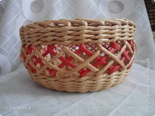 Поделка изделие Плетение Воздушные корзинки Трубочки бумажные фото 4