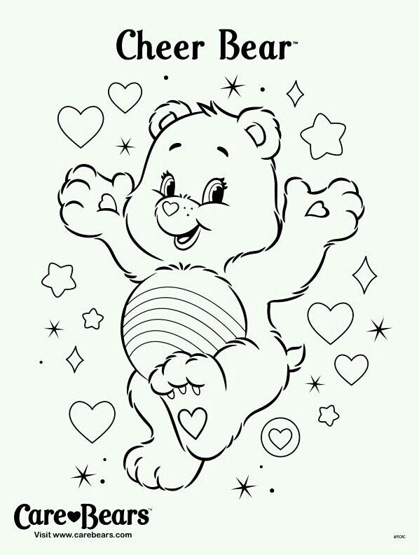 73 best images about care bear cheer bear 4 on pinterest cartoon  cheer and coloring pages Care Bears Coloring Pages Printable  Cheer Bear Care Bear Coloring Pages