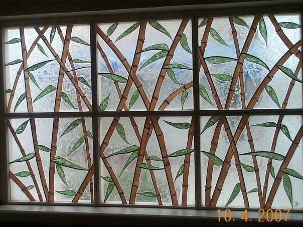 Stained Glass Bamboos