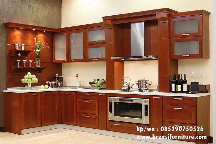 Kitchen Set Jepara Jati merupakan kitchen set yang bergaya minimalis dengan bahan dasar kayu jati pilihan dengan kontruksi yang kuat dan tahan lama