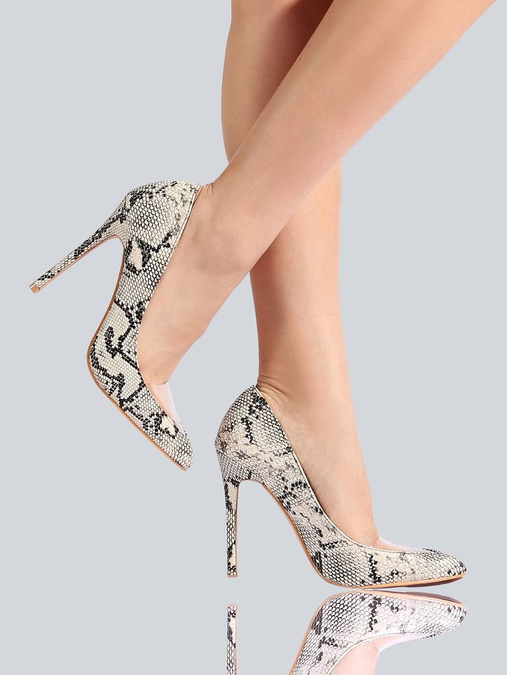 Shop Closed Toe Snake Print Heels SNAKE online. SheIn offers Closed Toe Snake Print Heels SNAKE & more to fit your fashionable needs.