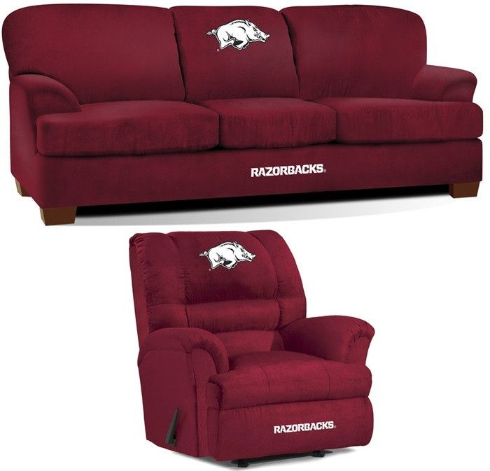 [[start tab]] Description The University of Arkansas Razorbacks All Star Fan Cave Set is made especially for the Big and Tall Fan. It includes the Big Daddy Rocker Wall-Away Recliner and First Team So
