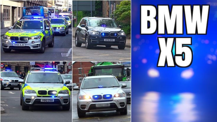 Armed Police cars responding compilation - BMW X5s x26 -