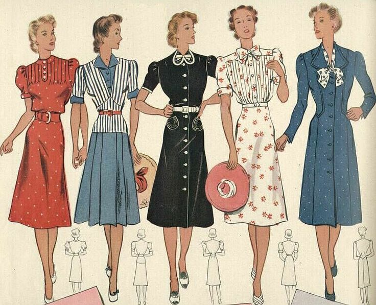 1940 39 S Style Dresses And Hair 40 39 S Fashions Pinterest 40s Fashion 1930s And Day Dresses
