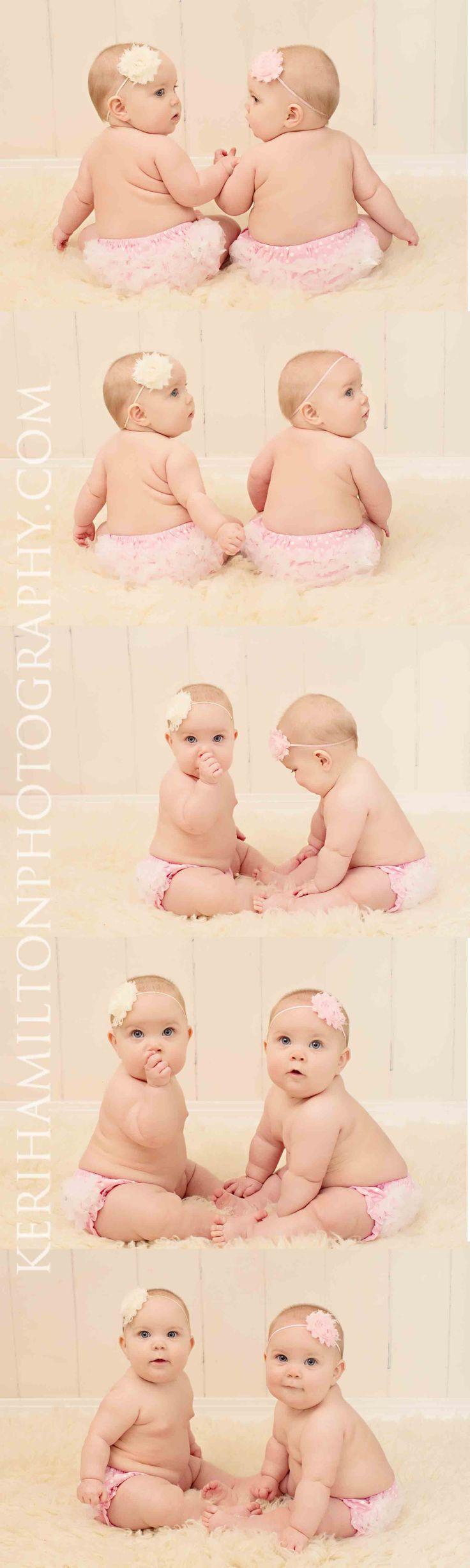 6 month twins http://kerihamiltonphotography.com http://facebook.com/kerihamiltonphotography