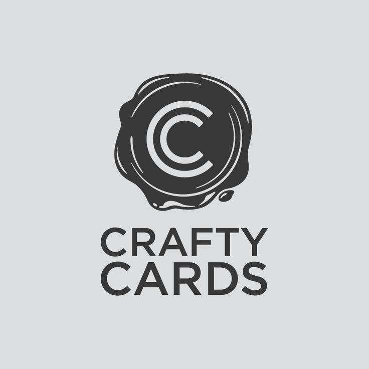 Logo Design. Crafty Cards. Designed by White is Black.