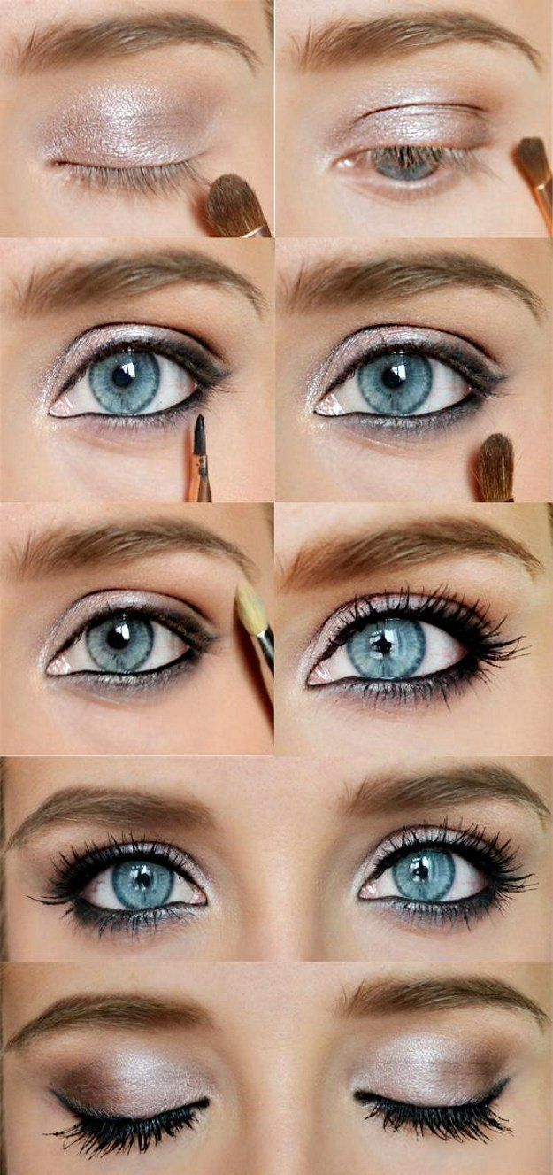 How to Do Sexy Blue Eyes Makeup   Gold Eyeshadow Tips