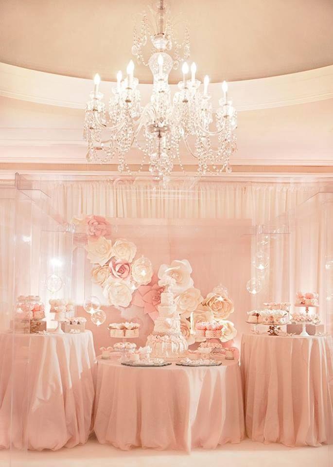 gorgeous setting and colour scheme #weddings #kitchentea #pink