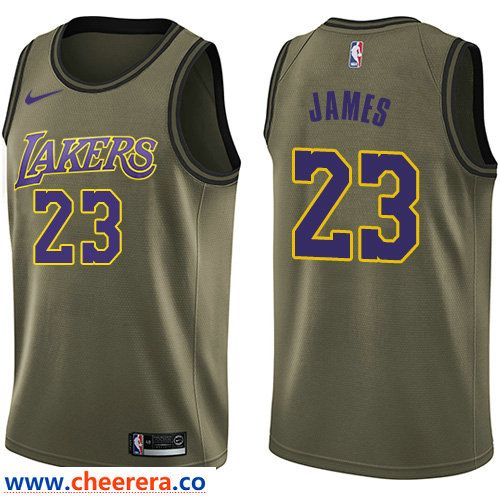 Men S Nike Los Angeles Lakers 23 Lebron James Green Nba