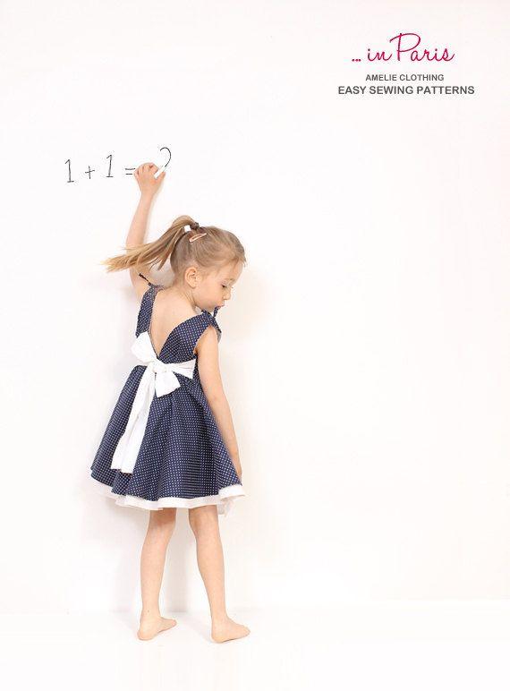 Adria volledige cirkel jurk patroon - peuter jurk naaiende patronen - childrens pdf naaien patroon - INSTANT DOWNLOAD