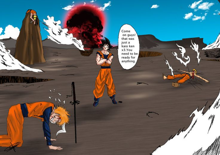 Goku and Ichigo vs Luffy and Naruto- of course goku is ...