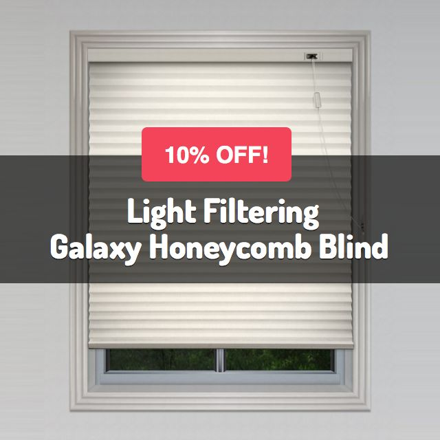 10% OFF Light Filtering Galaxy Honeycomb Blinds at Yes Curtains all of July 2015 #Blinds #YesCurtains