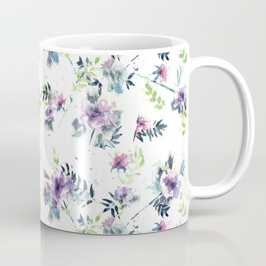 Flower watercolor free abstraction Mug $15.00