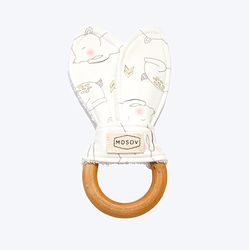 Natural Wooden Teething Ring - Fawn