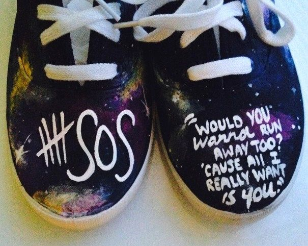 $25.00 shoes with amnesia lyrics or good girls are bad girls and Ashton name<<<< I need NEED these