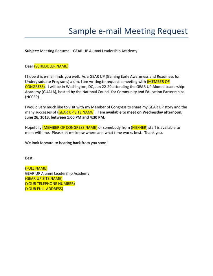 Business Meeting Request Email Format How to create a