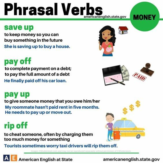 189 best ingls images on pinterest english learn english and forum learn english fluent landphrasal verbs with money fluent land thecheapjerseys Images